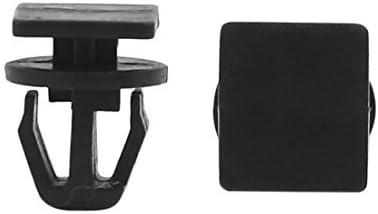 eDealMax Puerta 50Pcs plástico auto del coche de parachoques Fender empuje de Los remaches sujetadores Clip Negro