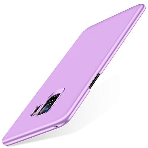 TORRAS Slim Fit Galaxy S9 Case (2018), Hard Plastic Ultra Thin Phone Cover Matte Finish Grip Case for Samsung Galaxy S9, Light Purple