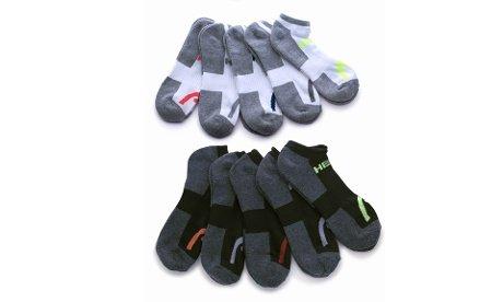 HEAD Men's Athletic Socks, Multicolor, 6-12.5 (10-Pack)
