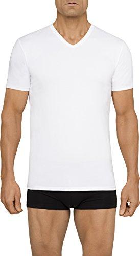 Cotton Undershirts Mens T-shirts V-neck (Calvin Klein Men's Undershirts Cotton Stretch 2 Pack V Neck Tshirts, White, Medium)
