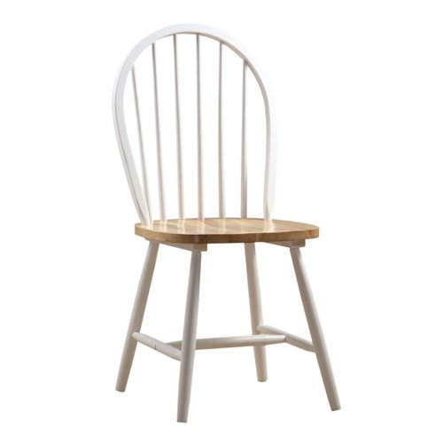 (Boraam 31316 Farmhouse Chair, White/Natural, Set of 2)
