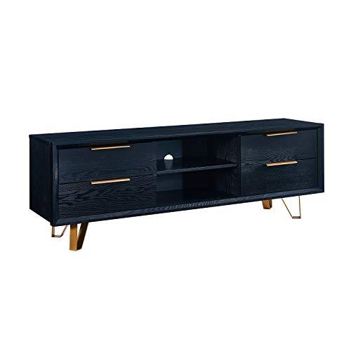 Southern Enterprises AMZ1786SM Malone Black Console Table,