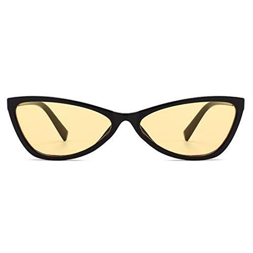 Sunglasses Verres De Translucide Couleur Lunettes Cat Unisexe Hinge Femmes Retro Bonbons Noir Full Frame Soleil Eye Aiweijia 5fTq1Ow