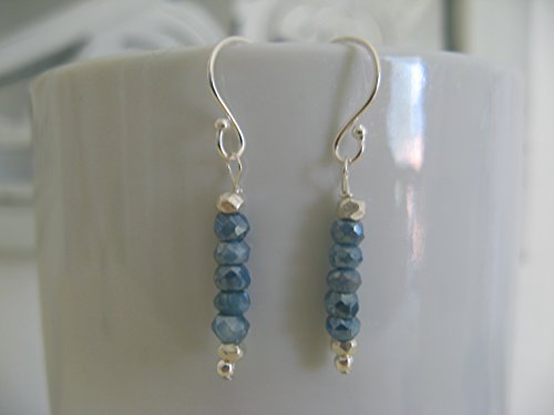 tone Gemstone Sterling Silver Earrings Artisan Jewelry (Ab Gemstone)