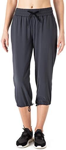 NAVISKIN Pantalones Casuales Protección UPF 50+ para Mujer Capri Pants Deportivos Pantalón Pirata Atlético Fitness Correr Térmico Chándal Deporte Yoga Running Entrenamiento 3