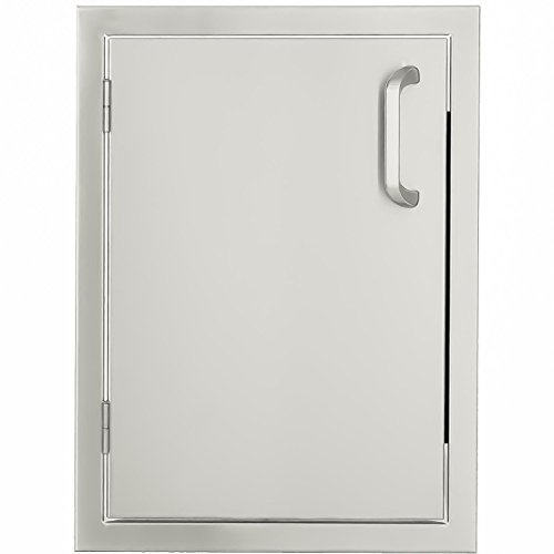 Mounted Flush Single Drawers (BBQGuys.com Kingston Series 17-inch Stainless Steel Left-hinged Single Access Door - Vertical)