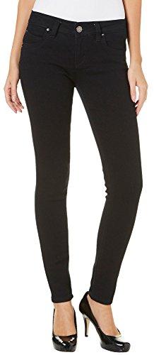 YMI Juniors Solid Skinny Jeans 7 Black (Ymi Skinny Jeans)