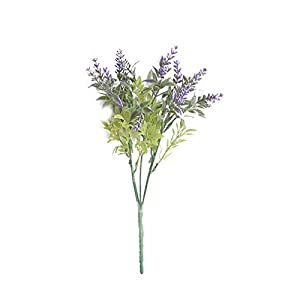 Zerama 15 Heads/Bouquet Vivid Artificial Lavender Flower Home Wedding Table Party Fake Flower 26