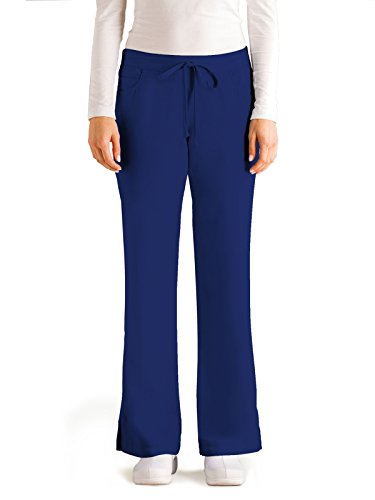 Grey's Anatomy Women's Junior-Fit Five-Pocket Drawstring Scrub Pant - Small - Indigo