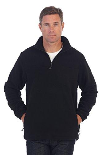 - Gioberti Mens Half Zip Polar Fleece Jacket, Black, XX-Large