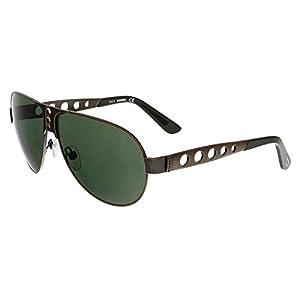 Diesel Men's DL0092 Metal Aviator Bronze Sunglasses 63