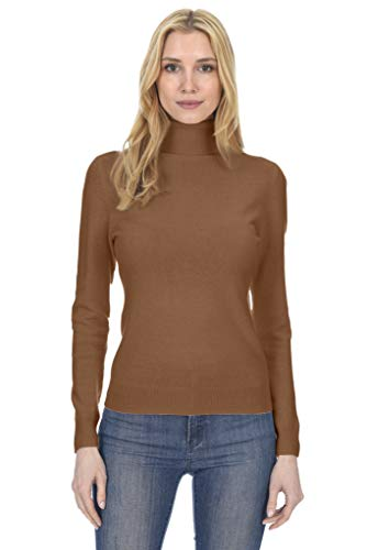 (State Fusio Women's Cashmere Wool Long Sleeve Pullover Turtleneck Sweater Premium Quality)