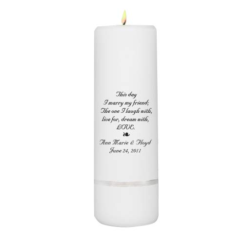 Personalized Unity Candle - Personalized Wedding Candle - Wedding Gift - Monogrammed Wedding Unity Candle by A Gift Personalized