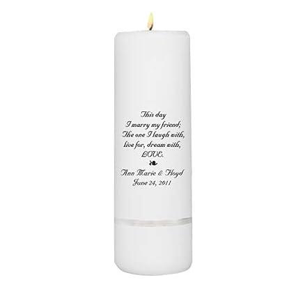 Personalized Unity Candle Personalized Wedding Candle Wedding Gift Monogrammed Wedding Unity Candle