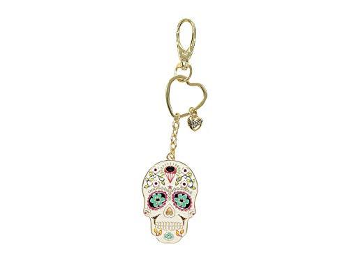 Skull Key Fob (Betsey Johnson Women's Sugar Skull Key Fob in a Betsey Johnson Pouch Multi One Size)