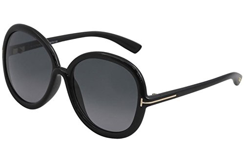 Tom Ford Womens Candice Oversized Gradiant Round Sunglasses Black - Sunglasses Ford Discount Tom