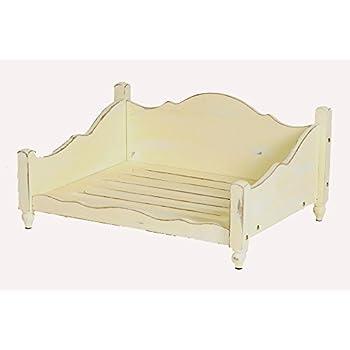 medium shabby chic elevated raised dog bed frame
