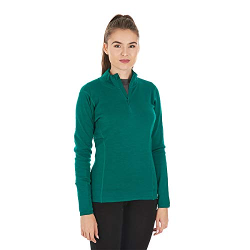 1/4 Zip Thermal (Minus33 Merino Wool Sequoia Women's Midweight 1/4 Zip Emerald Green XL)