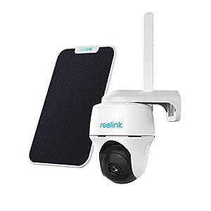 Reolink 1080P Caméra Surveillance sur Batterie Extérieure sans Fil avec 3G/4G LTE, Caméra Solaire avec Pan Tilt Carte…
