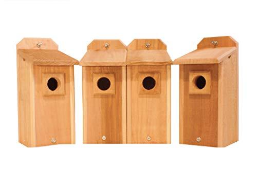 4 Cedar Bluebird Houses -