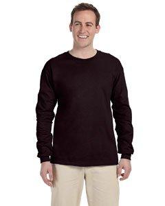 Gildan Ultra Cotton 6 Oz. Long-Sleeve T-Shirt (G240)- Dark Chocolate,XX-Large