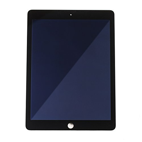 LCD Digitizer Touch Screen Display for iPad Air 2 (Grade A) - Black A1566 / A1567 Replacement Repair Part by Mobile Defenders