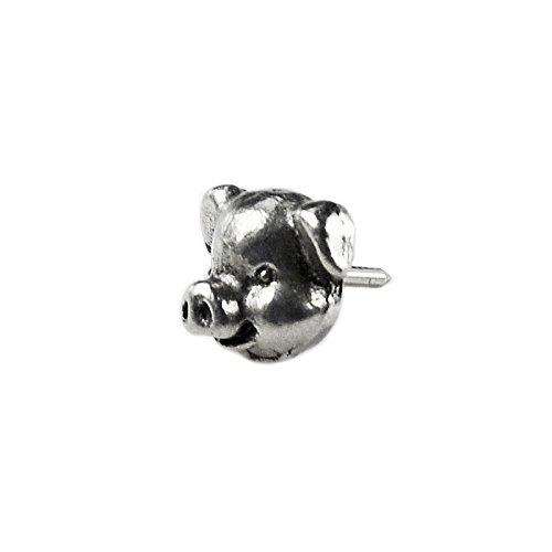 Quality Handcrafts Guaranteed Pig Lapel Pin