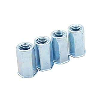 100x Rivet Nut Nutsert Threaded Steel Zinc Plated Countersunk Head Knurled Body