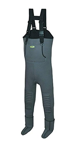 Pro Line Men's Wild Water Neoprene Chest Stocking Foot, Grey, XX-Large