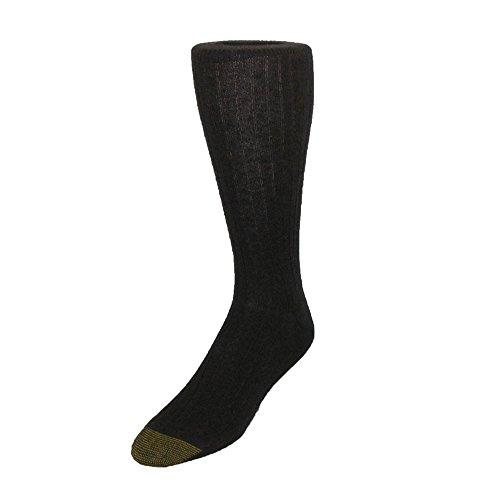 Gold Toe Men's Edinburgh Merino Wool AquaFX Dress Socks, Brown