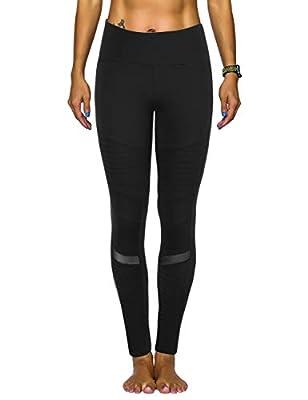 Rocorose Women's Yoga Pants High Waist 4 Way Stretch Tummy Control Moto Leggings