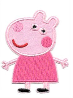 SUZY SHEEP PEPPA PIG Pink Iron on/ Sew on Patches/Applique/Embroidered - W3