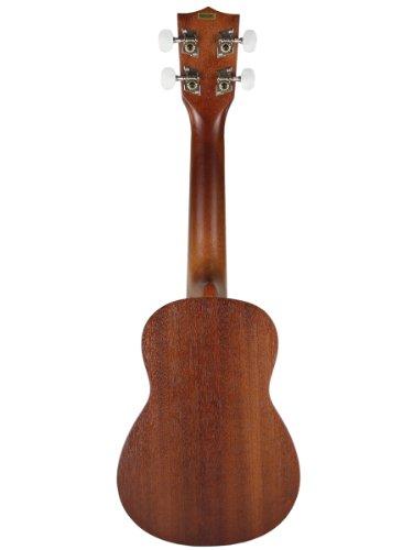 Kala KA-15S Mahogany Soprano Ukulele with FREE Deluxe Stronghold brand soprano uke soft case gig bag - Image 2