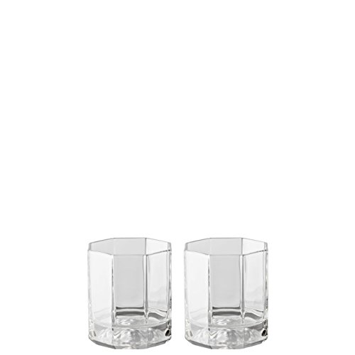 Frosted Old Fashion Set (Rosenthal Versace Whiskey Glasses Medusa Lumiere / Elegant Crystal Glassware Designed by Gianni Versace / Set of 2 Tumblers)