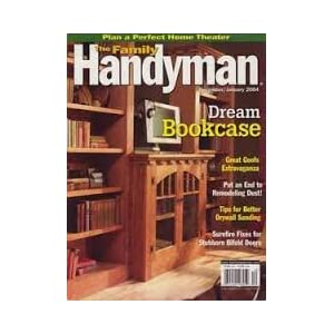 The Family Handyman Magazine December 2005 January 2006 - Grand Bookcase - 5 Biggest Handyman Disasters