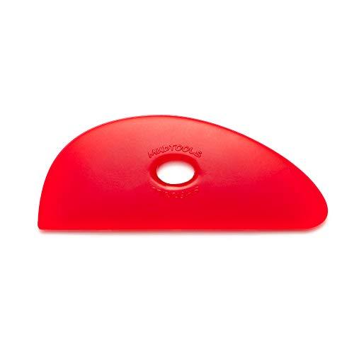Mudtools Polymer Rib Red Size 3 Very Soft - Long Blade Shape - Ceramics, Pottery, Clay - R3