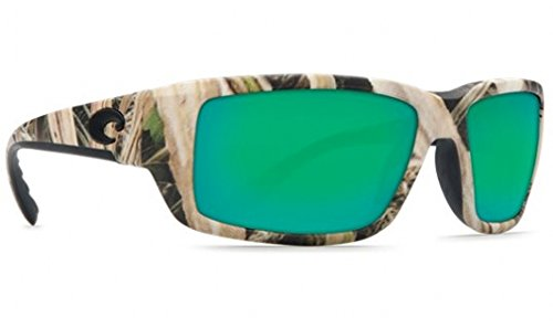 Costa Del Mar Fantail Sunglasses, Mossy Oak Shadow Grass Blades Camo, Green Mirror 400 Glass - Camo Sunglasses Lens
