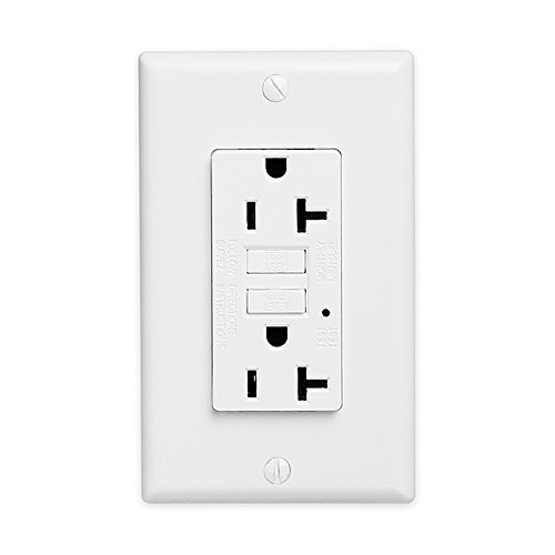 GFCI Wall Outlet 20Amp / 15Amp Safety Leakage Protection Socket Pack of 2 or 5 (5, 20A without safety door) by ThreeCat (Image #1)