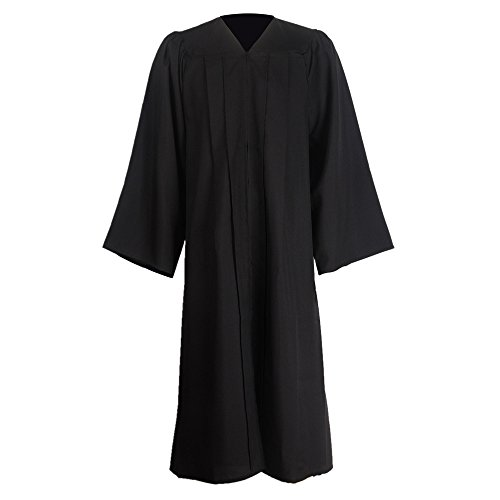 GraduationMall Unisex Premium Matte Graduation Gown Only Black X-Large 54(5'9