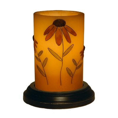 CR Designs Cone Flower Candle Sleeve with Black Round Candle Base