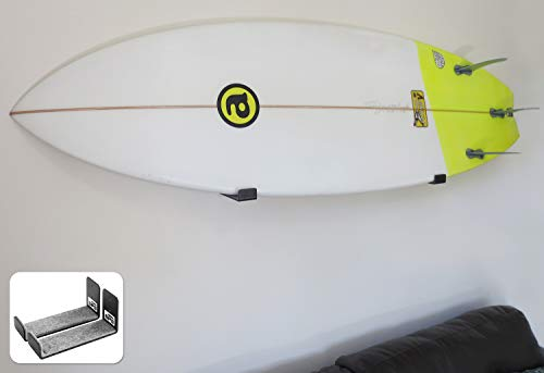 BPS Minimalist Board Wall Racks for Surfboard or Longboard - Choose Color and Bundle