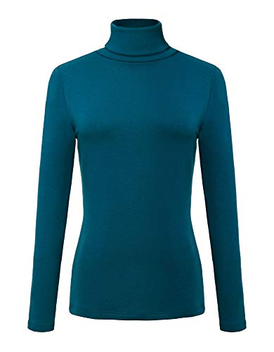 Urban CoCo Women's Solid Turtleneck Long Sleeve Sweatshirt (S, Indigo ()
