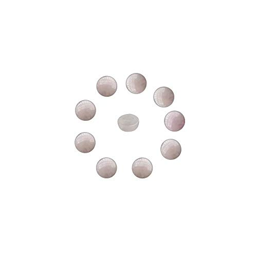(Small Quartz Cabochons for Rings Making 20 Pcs Natural Pink Rose Quartz Crystal Flat Back Round 6mm Cabs (No Hole))