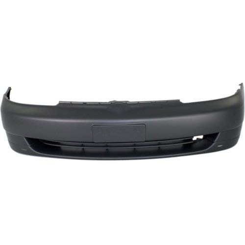 Front Bumper Cover Compatible with Toyota Echo 2000-2002 Primed Sedan with Spoiler -