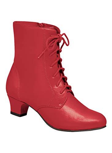 Angel Flex Women's Adult Jada Synthetic 6 Wide US Women/Red