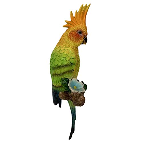 - Flameer Collection Tropical Resin Sculptures -Cockatoo Parrot - B