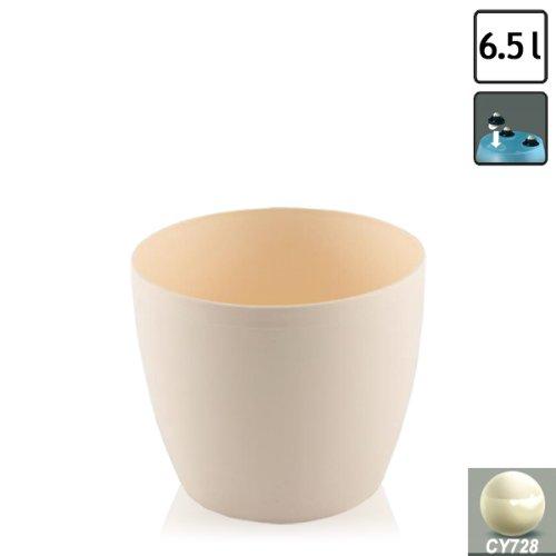- Prosper Plast Cream L Size COUBI Round Plastic Planter Pot, 6.5 Litre, 7 Colours