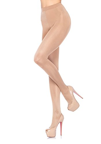 Leg Avenue Women's Sheer Waist Support Pantyhose, Nude, One - Waist To Nudes Sheer