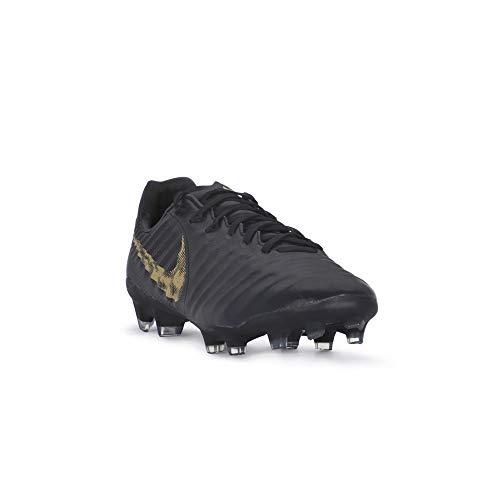 - Nike Legend 7 PRO FG Mens Soccer-Shoes AH7241-077_9.5 - Black/MTLC Vivid Gold