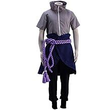 OURCOSPLAY Naruto Uchiha Sasuke Men's Cosplay Costume 5Pcs